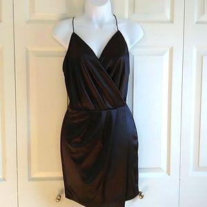 Fashion Nova fuax wrap  mini dress medium